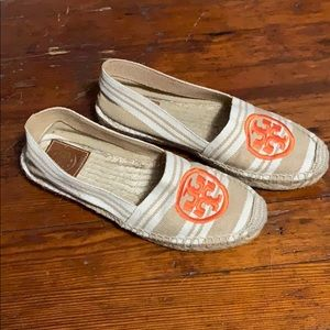 Tory Burch Espadrilles with Orange Detail